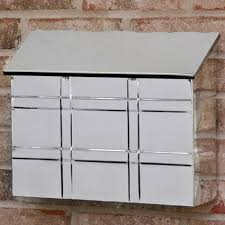 nickel mailbox wall mount grid wall mount mailbox polished stainless steel outdoor