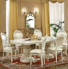 italian dining room furniture leonardo dining set ivory table china side and arm chairs