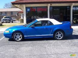 2000 ford mustang colors 2000 bright atlantic blue metallic ford mustang gt convertible