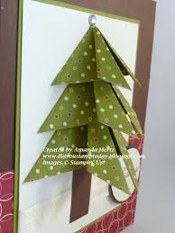 did you stamp today folded christmas tree