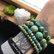 turquoise bead bracelet images One turquoise beaded bracelet adirondack artworks jpg
