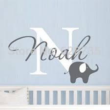 aliexpress com buy elephant with boys name wall decal custom aliexpress com buy elephant with boys name wall decal custom boys name vinyl wall sticker baby nursery wall decal elephant free shipping from reliable