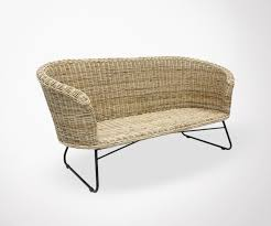 canap rotin 2 places reline naturel rattan sofa 2 seater meubles et design