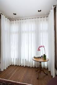 Window Bay Curtains Dressing A Square Bay Window Is Quite A Challenge But When