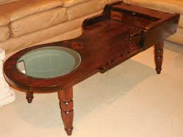 reclaimed cobbler table coffee table with mirror primitive