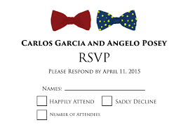 Wedding Invitations With Rsvp Cards Included Lgbt Wedding Invitations Rsvp Bow Tie By Invitations By R2