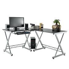 bureau angle noir design d intérieur grand bureau noir cm presto x et ordinateur
