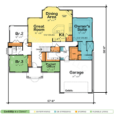 open one house plans one floor house plans one house plans 3 car garage house