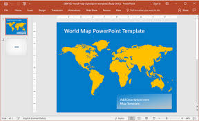 view the world map powerpoint template choice image diagram