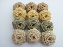 burlap flowers burlap flowers 12 pack special color combo bflowers