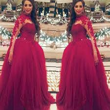 wedding dress maroon e54 sleeve applique sweep brush gown wedding