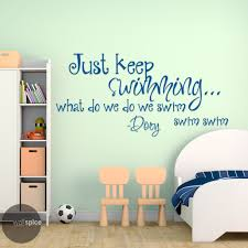 just keep swimming dory quote vinyl wall decal sticker finding just keep swimming dory quote vinyl wall decal sticker finding nemo disney pixar by wallspicedecals on