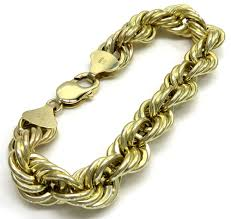 rose gold rope bracelet images 10k yellow gold hollow smooth xl rope bracelet 8 25 inches 12mm jpg