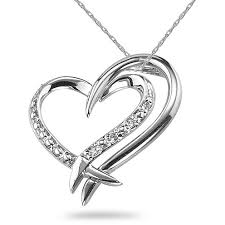 diamond necklace hearts images 2 hearts connected diamond necklace 14k white gold jpg