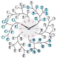 creative diamond art wall clock metal clock luxury style horloge