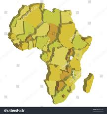 Political Map Of Africa by 3d Political Map Africa Country Territories Stock Vector 50815192