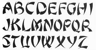 cool letter font