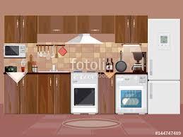 Design Of Modern Kitchen Kitchen Interior Background With Furniture Design Of Modern