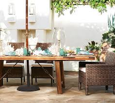 Patio Table Decor Benchwright Outdoor Rectangular Dining Table Pottery Barn