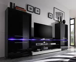 Exklusive Wohnzimmer Modern Tv Wohnwand Reizvolle Auf Wohnzimmer Ideen Plus Best Ideas Schwarz