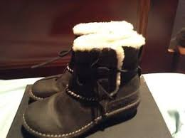 s ugg ankle boots with laces ugg s n 5136 leather nubuck ankle boots lace s 5 black ebay
