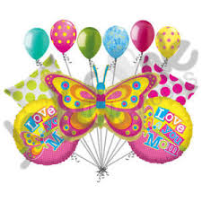 balloon bouquest 11pc i you butterfly day balloon bouquet