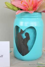 jar decorations for weddings silhouette jar wedding vase centerpiece the country chic