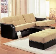 Modern Sectional Sofa With Chaise Brown Fabric Modern Sectional Sofa Sleeper Storage Chaise S3net