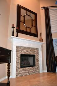 glass mosaic tile fireplace surround fireplaces design hearth