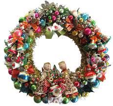 april makes a wreath using 10 vintage christmas corsages