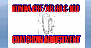 cam chain adjustment honda crf xr 80 u0026100 youtube