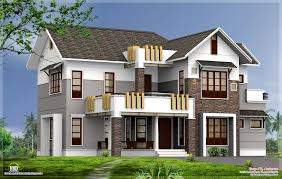 Contemporary Home Elevations Design Sq Feet Elevation Kerala