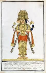 hindu l the hindu trimurti brahma vishnu and shiva title peintures de