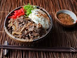 gyudon japanese simmered beef and rice bowls recipe serious eats