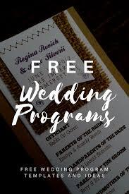 downloadable wedding programs free wedding program templates program template wedding