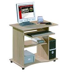 tablette de bureau links bureau 80 x 50 x 75 cm meuble informatique décor chêne sonoma
