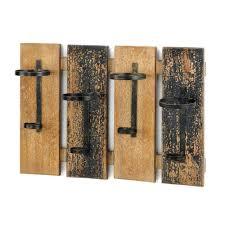 amazon com rustic wall mounted wine rack home u0026 kitchen