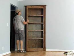 Swinging Bookcase Pivoting Bookcase Youtube