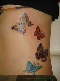 butterflies pic design on side back butterfly side