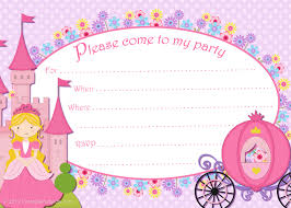 princess themed birthday invitation cards image collections