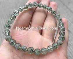 crystal quartz bracelet images Wholesale natural round green quartz bracelet rutilated quartz jpg