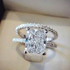 square engagement rings with band best 25 radiant cut engagement rings ideas on radiant
