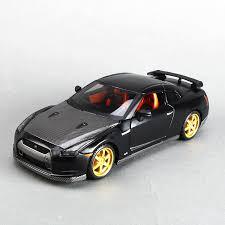 collectible model cars 1 24 diecast model car skyline gtr r35 gt r matte black metal