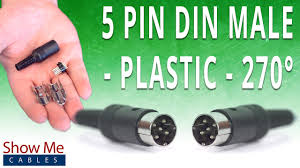 how to install the 5 pin din male solder connector 270 style