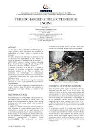 si e auto r er turbocharged single cylinder si engine pdf available