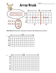 array break multiplication worksheet by mr readys class tpt