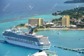 cruises at port of ocho rios aerial view from the top of mystic
