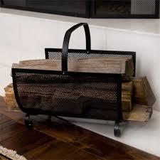 fireplace wood holders andirons u0026 firewood racks signature hardware