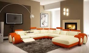 Luscious Orange And White Living Rooms Home Design Lover - Modern family living room