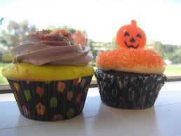 file halloween cupcakes with candy corn and pumpkin decoration jpg